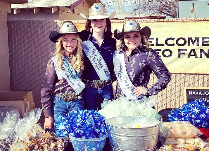 2021 Navajo County Fair Rodeo Queens Maycee Brimhall, Tova Conner and Codi Ross Queen. (Photo/Navajo County Fair)