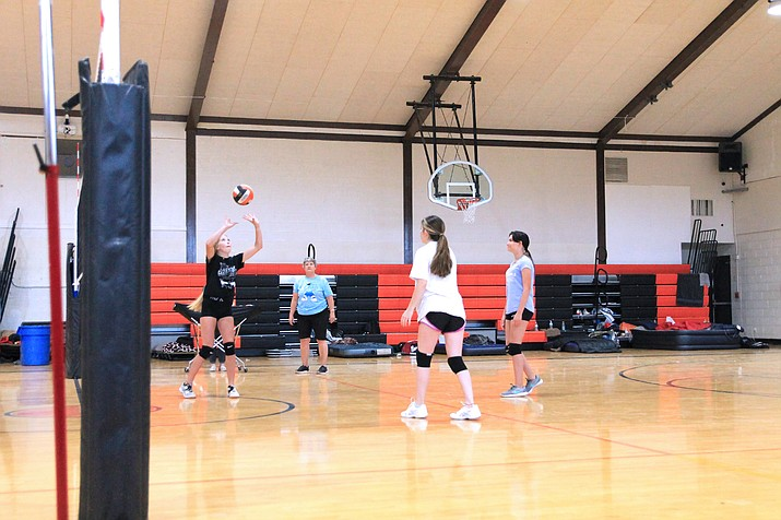 Williams Vikings volleyball players prepare for the fall season.  (Wendy Howell/WGCN)