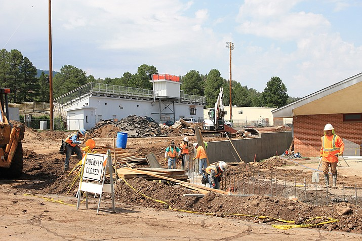 Williams High School parking lot is still under construction. (Wendy Howell/WGCN)