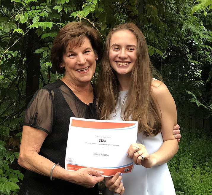 Olivia Nilsson, granddaughter of Kay Baker, has received a $2,500 STAR Scholarship from the P.E.O. Sisterhood. (Courtesy)