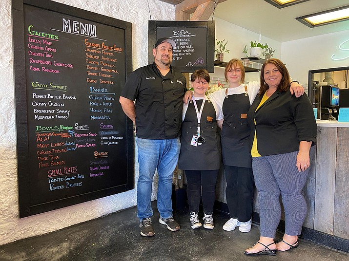 Greg and Sheraton Cole and their two daughters have opened the Selah Café in downtown Williams. The café offers unique food experiences in a fast-casual type of environment. (Wendy Howell/WGCN)