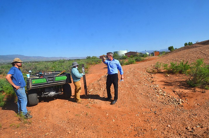 Cottonwood-Oak Creek Superintendent Steve King credits Verde Valley Wheel Fun for the new the Mountain View Bike Skills Park in Cottonwood. (Vyto Starinskas/Independent)