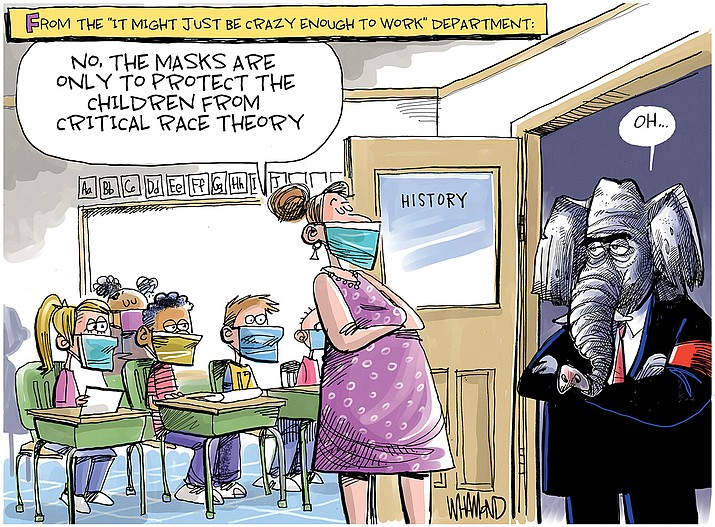 Editorial cartoon (1): Aug. 15, 2021