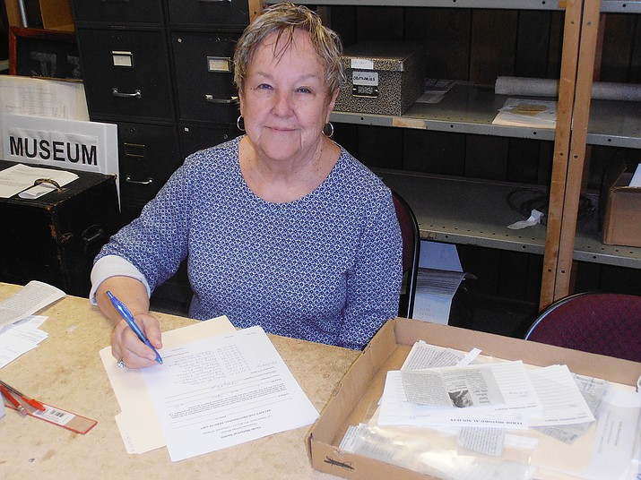 Nancy Kores is a volunteer for the Verde Historical Society at the Clemenceau Heritage Museum in Cottonwood. (VHS/Courtesy)