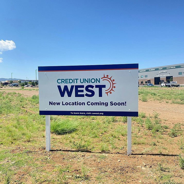 In 2022, Credit Union West will move its Prescott Valley branch from 8640 E. Highway 69 to a larger branch that will be built in a vacant lot north of the Maverik gas station and convenience store on Glassford Hill Road. (Credit Union West/Courtesy)