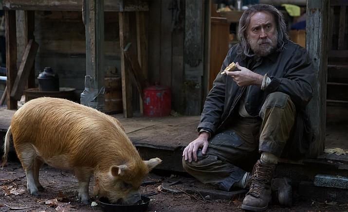 A truffle hunter (Nicolas Cage) who lives alone in the Oregonian wilderness must return to his past in Portland in search of his beloved foraging pig after she is kidnapped. (SIFF/Courtesy)