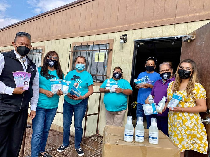 On Aug. 18, Navajo Nation Vice President Myron Lizer helped deliver PPE to ADABI, a non-profit organization in Chinle. (Photos/OPVP)