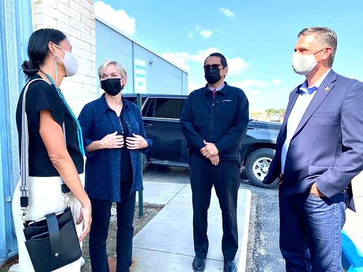 U.S Energy Secretary Jennifer Granholm met with Navajo Nation President Jonathan Nez and other tribal leaders Aug. 17. (Photo/OPVP)