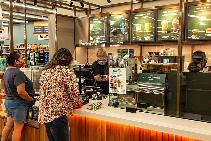 Starbucks opened inside Basha's Dine Market in Tuba City, Arizona Aug. 21. (Gilbert Honanie/NHO)