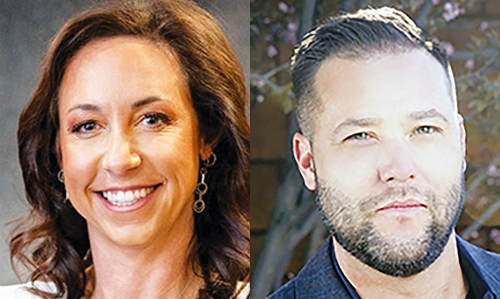 Grant Quezada has withdrawn from the November runoff election for a Prescott City Council seat, leaving Jessica Hall as the lone candidate on the ballot. (Submitted photos)