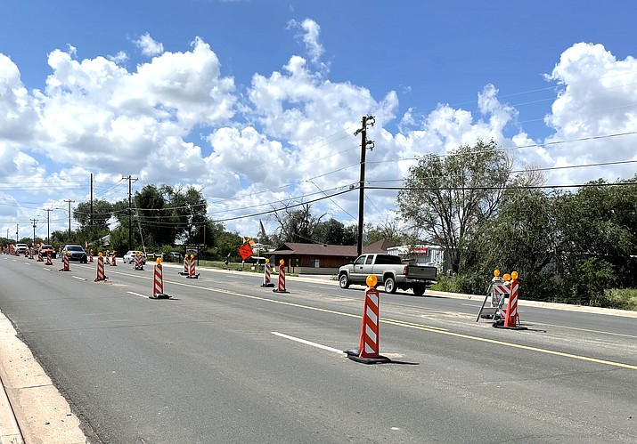 Road work at the intersection of State Route 89 and Road 1 North continues through October. (Photo/Arizona Department of Transportation)