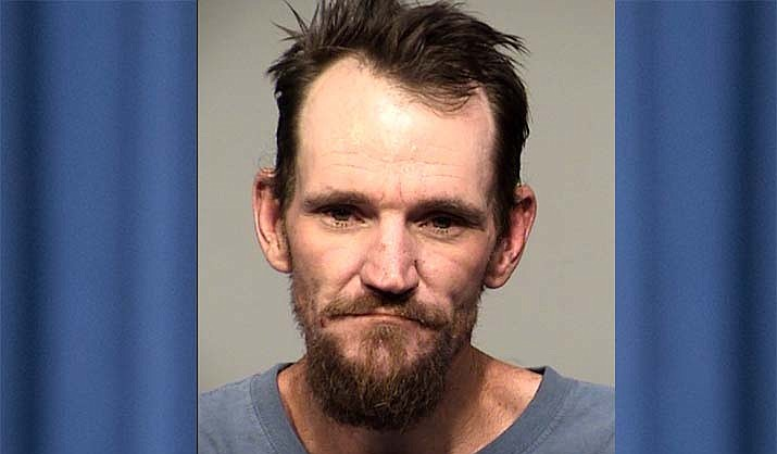 Robert Steven Warwood, 40, of Camp Verde, was arrested after a traffic stop revealed 50 blue-colored pills of fentanyl in his vehicle. He was also wanted to two outstanding warrants. (YCSO/Courtesy)