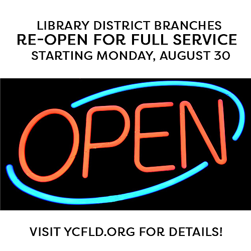Despite COVID-19 numbers in Yavapai County not slowing down, all 15 district libraries in the county were scheduled to reopen Monday, Aug. 30, according to a news release. (Yavapai County/Courtesy)