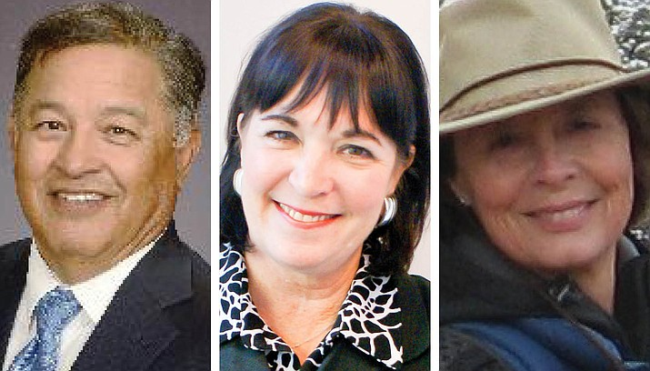 Dimas V. Bejarano, left, Kim Knotter, middle, and Linda Stizer have been named to the Friends of the Verde River board of directors, the organization announced Friday, Aug. 27, 2021. (FVR/Courtesy)
