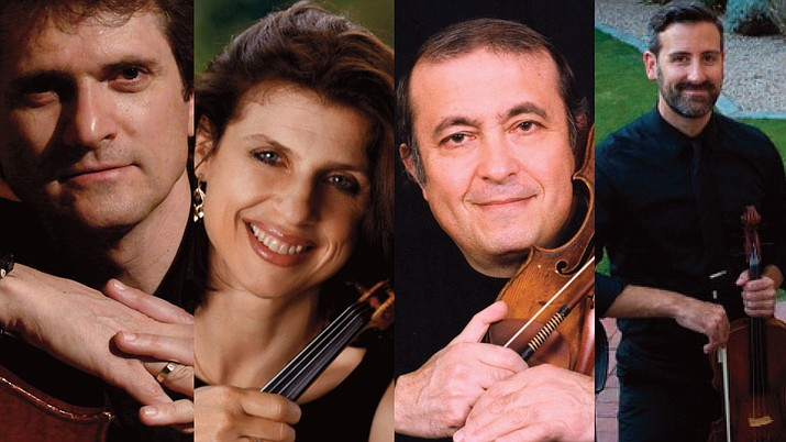 """The Red Rocks Music Festival is proud to partner with the Sedona International Film Festival to present a special concert at the Mary D. Fisher Theatre on Saturday, Sept. 4 at 4 p.m. The concert — """"Dialogues of Strings"""" — will include selections by Beethoven, Schubert, Bartok and Mozart. Performers include Carmit Zori, David Ehrlich, Christopher Mckay and Jan Simiz. (SIFF/Courtesy)"""