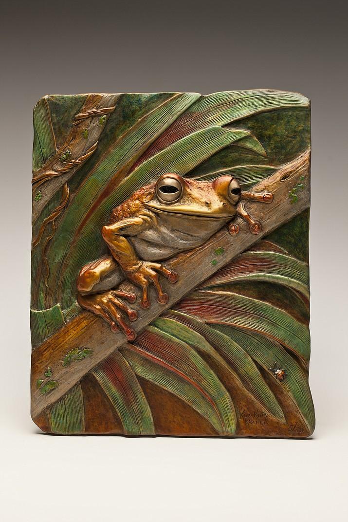 'Eyes of the Rain Forest' by Kim Kori, Bronze Ed. 50.