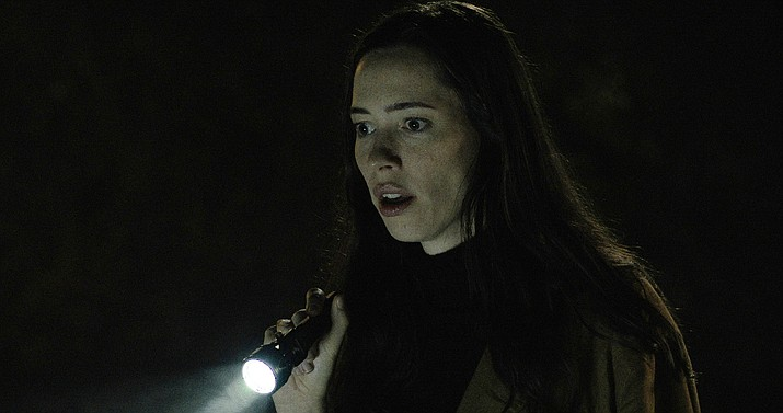 'The Night House,' starring Rebecca Hall, Sarah Goldberg, Evan Jonigkeit and Vondie Curtis Hall, is a Searchlight Pictures release in theaters Friday, rated R by the Motion Picture Association of America. AP photo.