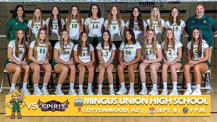 The Yavapai College volleyball team will be in Cottonwood for two matches, the first on Sept. 8, 2021, and the second on Sept. 22. The matches will be played at Mingus Union High School. (YC/Courtesy)