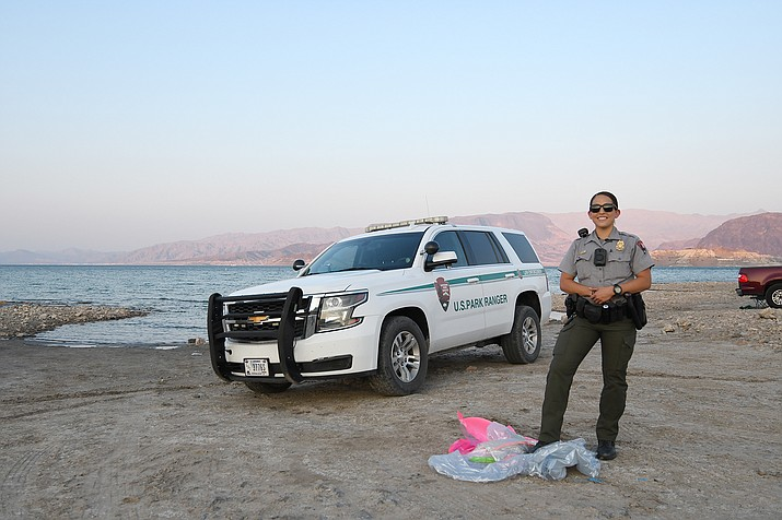 The use of pool toys are prohibited at Lake Mead National  Recreation Area. (Photo/NPS)