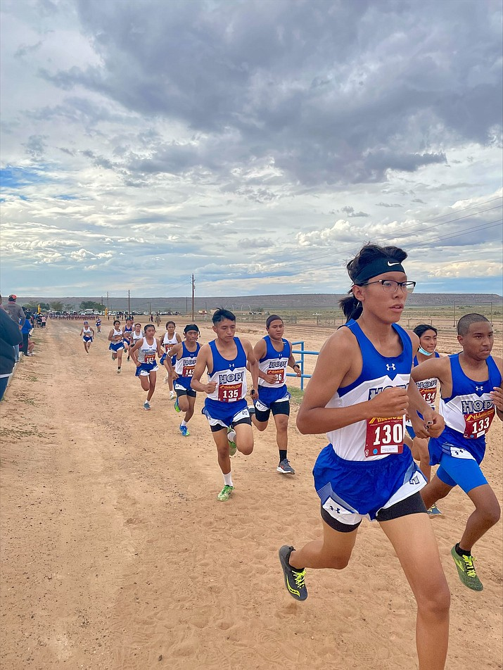 Hopi High School Cross Country Team competes Aug. 31. (Photo courtesy of Hopi High School and student yearbook photographer Aiyana Talas)