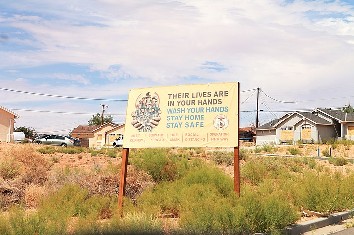 COVID-19 remains a concern on the Navajo reservation. (Loretta McKenney/NHO)