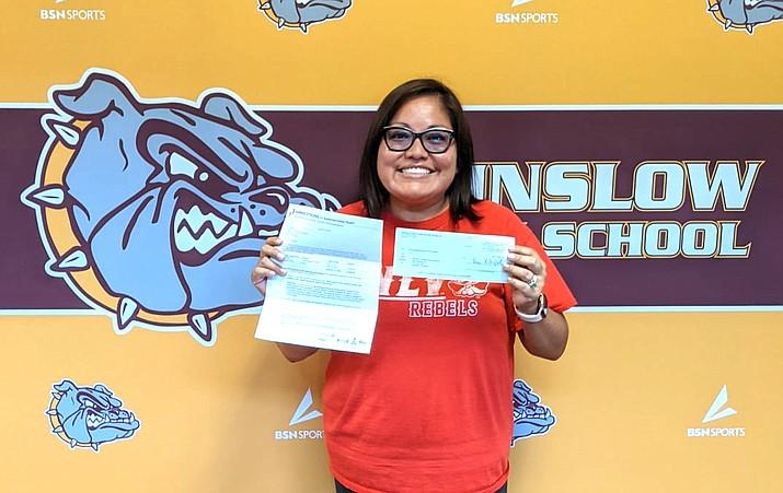Winslow High School teacher Mrs. Jones was selected as a Dreamstarter Teacher Aug. 24. Jones received $1,000 to spend on classroom materials. (Photo/Winslow High School)