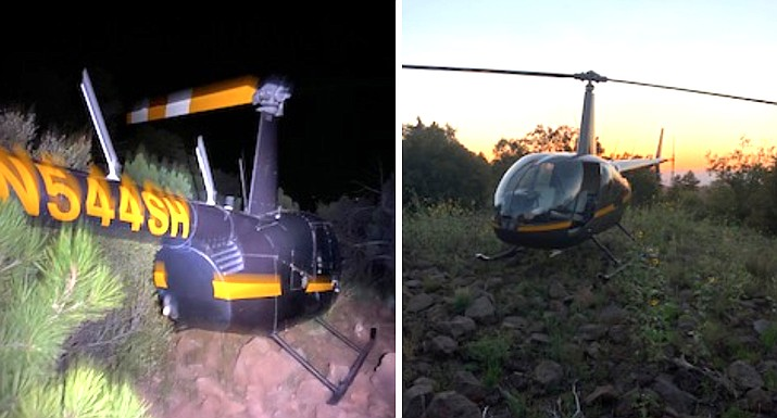 A search and rescue helicopter lost power and became disabled after a rescue Aug. 27. (Photo/Yavapai County Sheriff's Office)