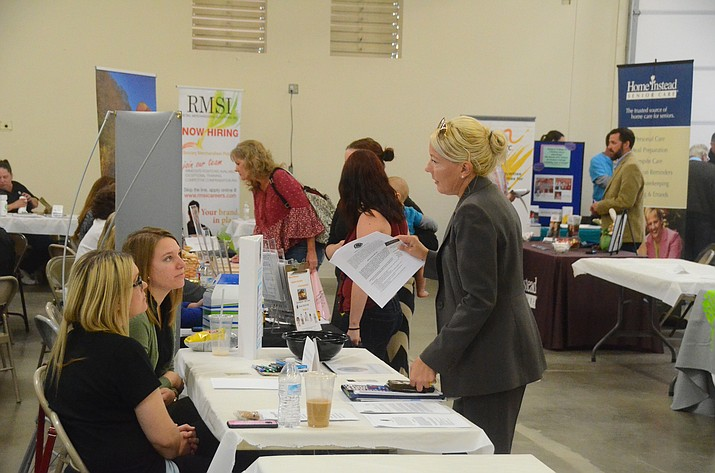 This undated file photo shows a career fair in Cottonwood, hosted by Yavapai College. The school is teaming up with the Town of Camp Verde to host a job and career fair Thursday, Sept. 16, 2021. (Independent file photo)