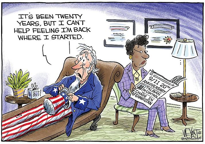 Editorial cartoon (2): Sept. 10, 2021