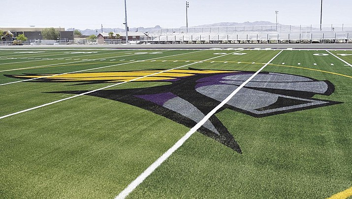 All outside athletic events at Lake Havasu High School were canceled Wednesday after rumors of threats circulated. The school's new football field is pictured. (File photo for the Miner)