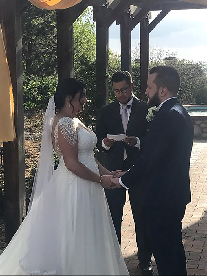 Natalie Elizabeth Yslas of Aurora, Colorado, daughter of Jerry and Theresa Yslas of Prescott, was married to Jesse Schaffer, of Aurora Colorado at Hudson Gardens in Littleton, Colorado May 21, 2021. (Courtesy)