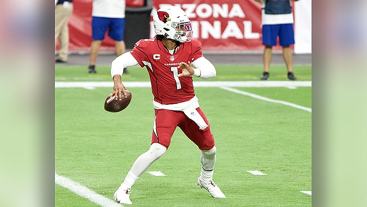 Quarterback Kyler Murray threw five touchdown passes to lead the Arizona Cardinals to a 38-13 win over the Tennessee Titans on Sunday, Sept. 12 in Nashville.  (Photo by All-Pro Reels, cc-by-sa-2.0, https://bit.ly/3gNyH9m)
