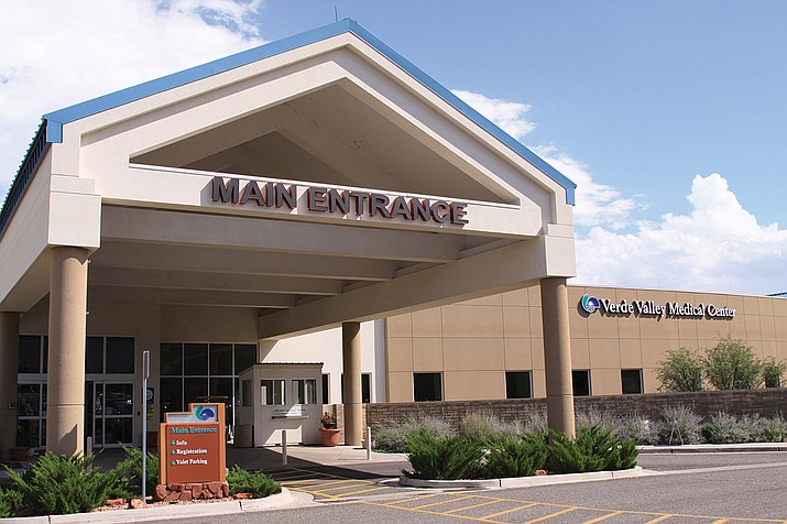 This undated file photo shows the main entrance of the Verde Valley Medical Center in Cottonwood. Northern Arizona Healthcare announced Monday, Sept. 13, 2021, that it will be requiring its full workforce to be vaccinated against COVID-19 by Dec. 31. (Independent file photo)