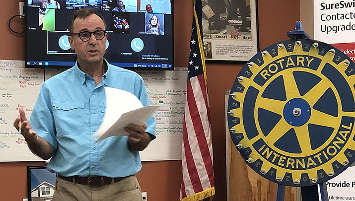 Mark Pardue, executive director of the Kingman Area Food Bank, was the guest speaker at the Kingman Route 66 Rotary Club meeting on Sept. 10. (Courtesy photo)