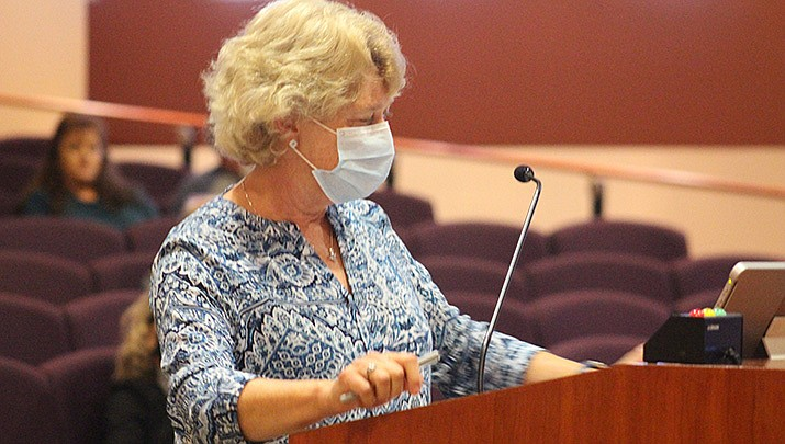 Denise Burley, Mohave County's public health director, credits masks worn for COVID-19 with keeping flu cases down last winter. (Miner file photo)