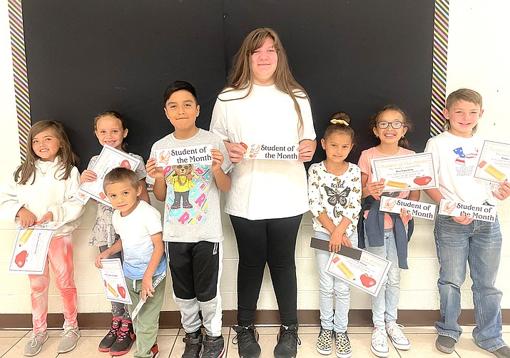 Above: Williams Elementary-Middle School Students of the Month include Nicholas Campos Hernandez, Grace Bailey, Dana Valdez Ortiz, Paisley Orozco, Ava Simonton and Tanner Sutton. (Photos/WEMS)