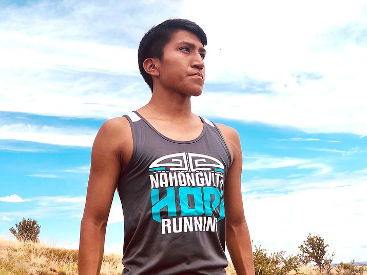 Hopi runner Kyle Sumatzkuku has qualified to run the Boston Marathon in October and is raising funds to to help with travel expenses. (Photo courtesy of Duane Humeyestewa)