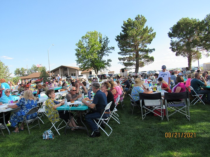 The Chino Valley Police Foundation held its third annual Luau on Aug. 21, 2021, at Memory Park. Live music was provided by John Eddye and Fly By Night Mobile Sound DJ. For more information, call 928-350-0603. (Courtesy photo)