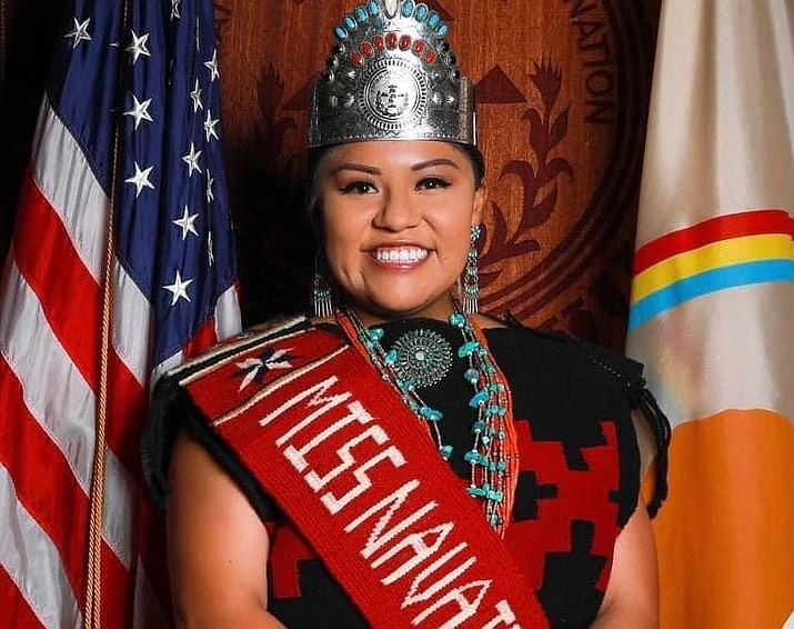 Shaandiin Parrish's extended reign came to an end Sept. 11 as a new Miss Navajo was named, the first in two years. (Photo courtesy of OPVP)