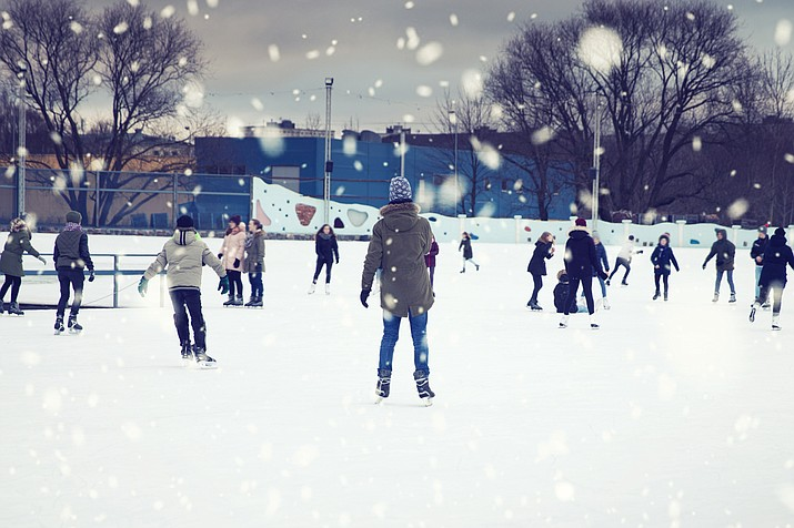 The town of Tusayan plans to install a portable ice rink for residents and visitors this winter. (Photo/stock)