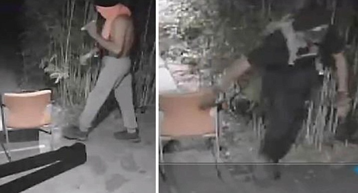 The Sedona Police Department is searching for two suspects who allegedly broke into a Sedona marijuana dispensary on the 400 block of Jordan Road on Sept. 12, 2021. (Sedona PD/Courtesy)