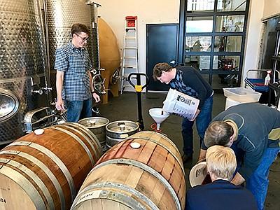 Students at the Southwest Wine Center at Yavapai College make wine. (Sustainability Alliance/Courtesy)