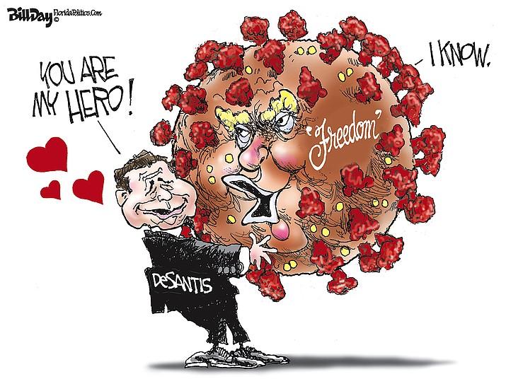 Editorial cartoon (1): Sept. 20, 2021