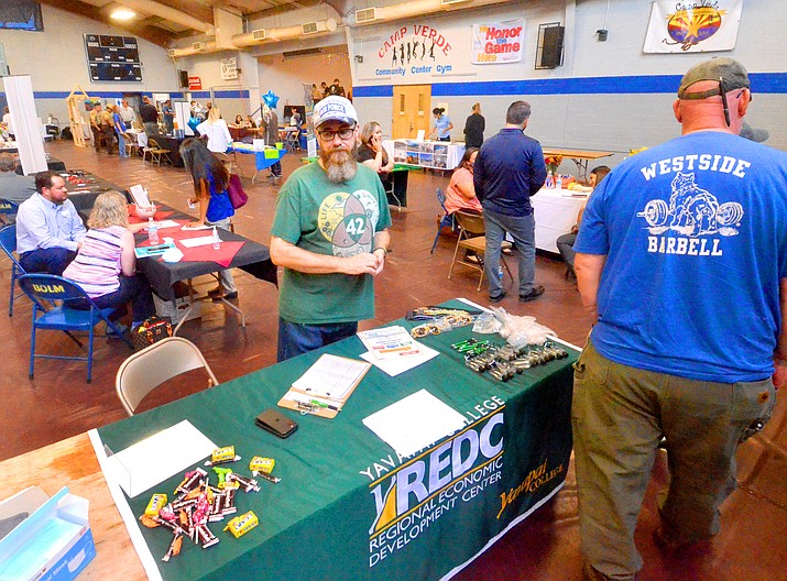 More than 36 business were available for job seekers at the Camp Verde Job and Career Fair on Thursday, Sept. 16, 2021, at the Camp Verde Town gym. (Vyto Starinskas/Independent)