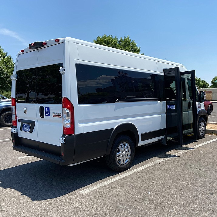 Shown is a van to be used in the Prescott Valley micro-transit program slated to begin in summer, 2022. (Town of Prescott Valley/Courtesy)