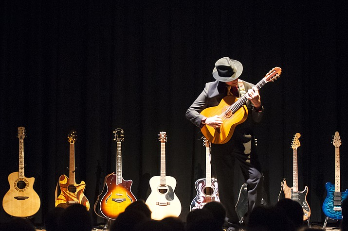 """Anthony Mazzella's """"Legends of Guitar"""" show is a dazzling spectacle featuring one of the most highly-skilled musical artists in the country channeling the raw power of living and deceased guitar legends with multiple instruments on stage. (SIFF/Courtesy)"""