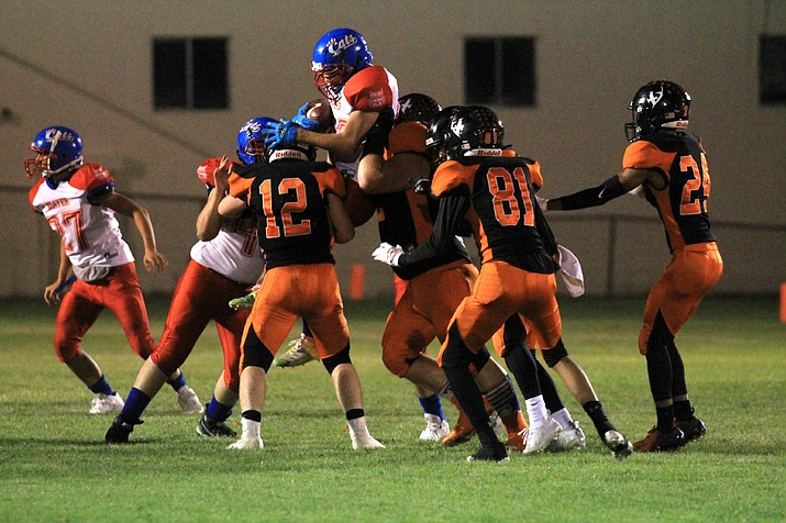 The Vikings football team dominated in their 68-0 win over Mayer Sept. 17. (Wendy Howell/WGCN)
