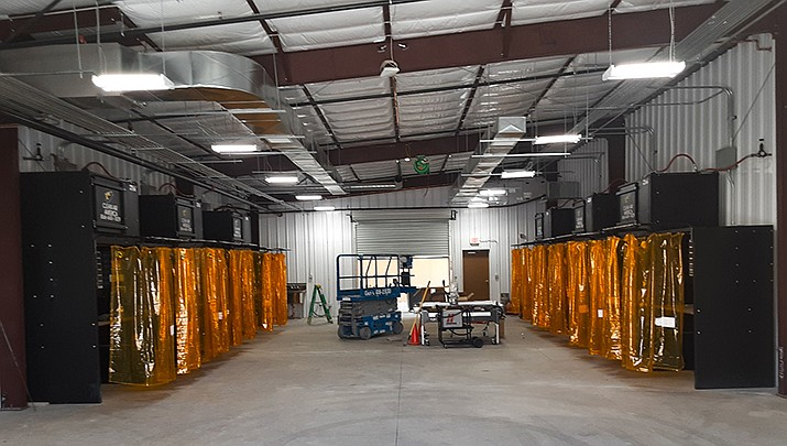 The new welding building on Mohave Community College's Bullhead City campus was dedicated at a ribbon-cutting ceremony this month. (MCC courtesy photo)