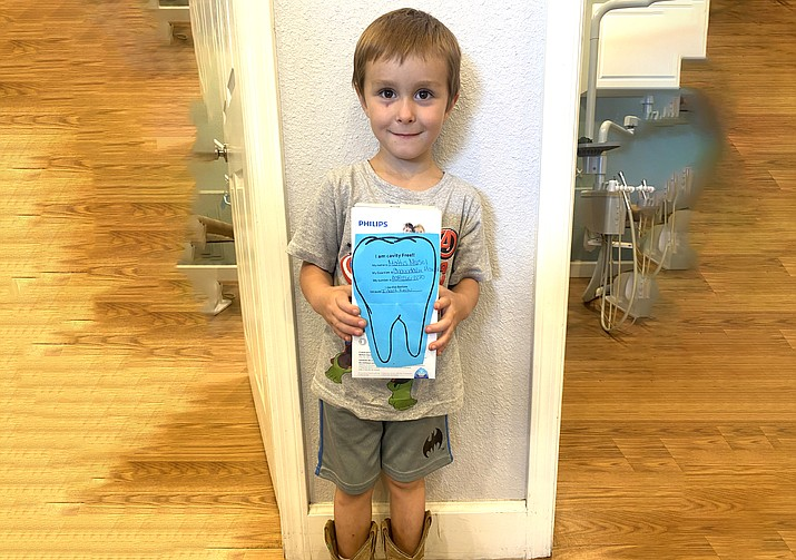The No Cavity Club winner for for the months of Jan. 1 to June 30 at Timerbline Dental is Mattis Musel, 4, of Ash Fork. Children can enter for the No Cavity Club drawing at Timberline Dental. The next drawing will be held Dec. 31. (Photo/Timberline Dental)