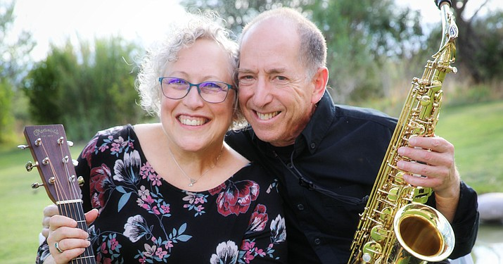 """""""Winds & Strings,"""" made up of Woody Haiken on saxophone and Shelley Haiken on guitar and vocals, is scheduled to perform at the Camp Verde Community Library on Thursday, Oct. 7, 2021. Start time is set for 5:30 p.m. (CVCL/Courtesy)"""